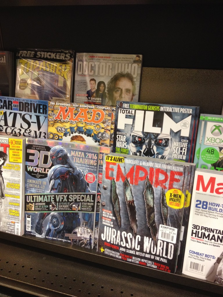 Pictured: Some magazines I might subscribe to.  Not pictured: Details magazine.
